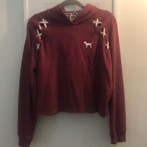 Maroon PINK hoodie *lightly worn
